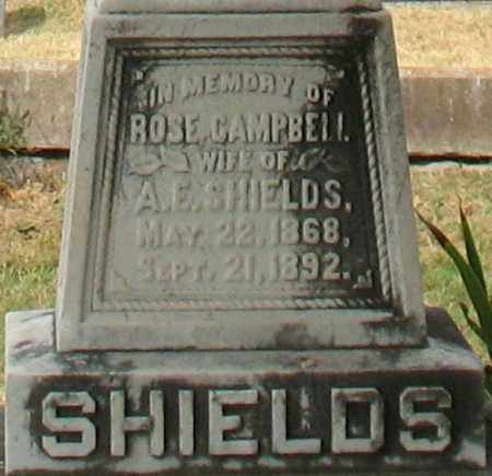 SHIELDS, ROSE (CLOSEUP) - Pulaski County, Arkansas | ROSE (CLOSEUP) SHIELDS - Arkansas Gravestone Photos