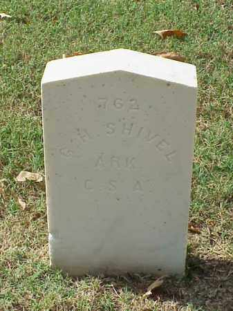 SHIVEL (VETERAN CSA), G H - Pulaski County, Arkansas | G H SHIVEL (VETERAN CSA) - Arkansas Gravestone Photos