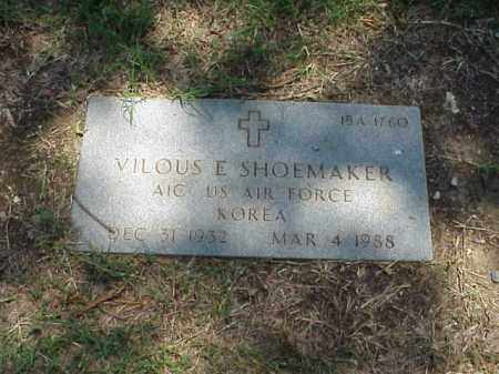 SHOEMAKER (VETERAN KOR), VILOUS E - Pulaski County, Arkansas | VILOUS E SHOEMAKER (VETERAN KOR) - Arkansas Gravestone Photos