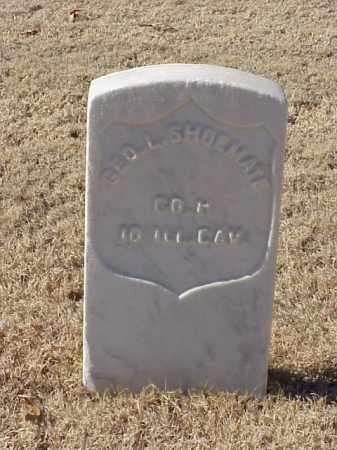 SHOEMATE (VETERAN UNION), GEORGE L - Pulaski County, Arkansas | GEORGE L SHOEMATE (VETERAN UNION) - Arkansas Gravestone Photos
