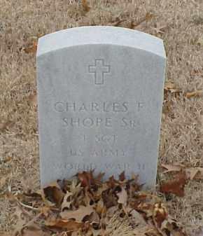 SHOPE, SR (VETERAN WWII), CHARLES F - Pulaski County, Arkansas | CHARLES F SHOPE, SR (VETERAN WWII) - Arkansas Gravestone Photos