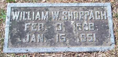 SHOPPACH, WILLIAM WATSON - Pulaski County, Arkansas | WILLIAM WATSON SHOPPACH - Arkansas Gravestone Photos