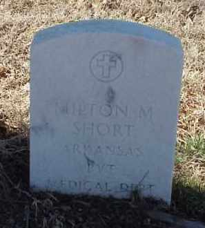 SHORT  (VETERAN), MILTON M - Pulaski County, Arkansas | MILTON M SHORT  (VETERAN) - Arkansas Gravestone Photos