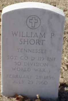 SHORT  (VETERAN WWI), WILLIAM P - Pulaski County, Arkansas | WILLIAM P SHORT  (VETERAN WWI) - Arkansas Gravestone Photos