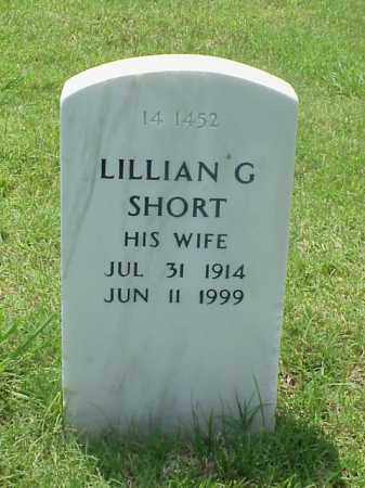 SHORT, LILLIAN G - Pulaski County, Arkansas | LILLIAN G SHORT - Arkansas Gravestone Photos