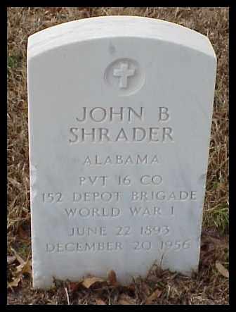 SHRADER (VETERAN WWI), JOHN B - Pulaski County, Arkansas | JOHN B SHRADER (VETERAN WWI) - Arkansas Gravestone Photos