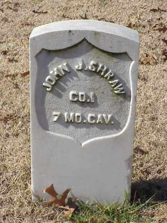SHRAW (VETERAN UNION), JOHN J - Pulaski County, Arkansas | JOHN J SHRAW (VETERAN UNION) - Arkansas Gravestone Photos