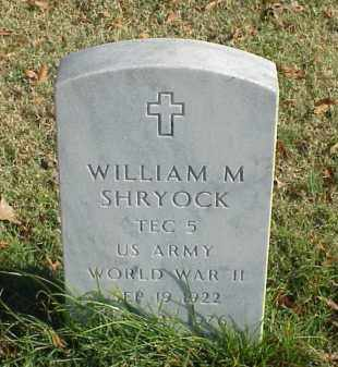 SHRYOCK (VETERAN WWII), WILLIAM M - Pulaski County, Arkansas | WILLIAM M SHRYOCK (VETERAN WWII) - Arkansas Gravestone Photos