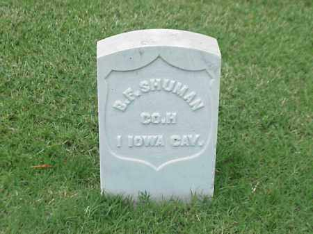 SHUMAN (VETERAN UNION), BENJAMIN F - Pulaski County, Arkansas | BENJAMIN F SHUMAN (VETERAN UNION) - Arkansas Gravestone Photos