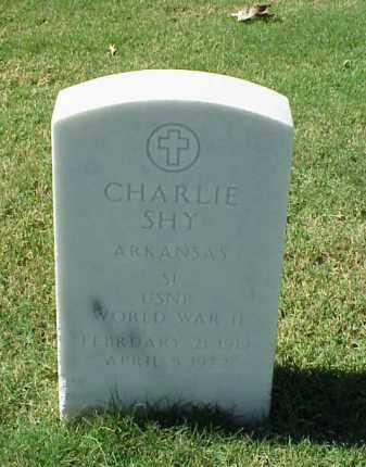 SHY (VETERAN WWII), CHARLIE - Pulaski County, Arkansas | CHARLIE SHY (VETERAN WWII) - Arkansas Gravestone Photos