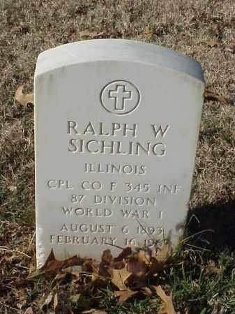 SICHLING (VETERAN WWI), RALPH W - Pulaski County, Arkansas | RALPH W SICHLING (VETERAN WWI) - Arkansas Gravestone Photos