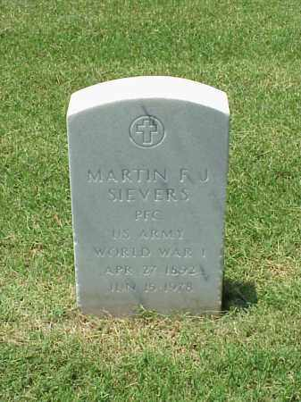 SIEVERS (VETERAN WWI), MARTIN F J - Pulaski County, Arkansas | MARTIN F J SIEVERS (VETERAN WWI) - Arkansas Gravestone Photos