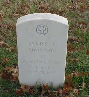 SIMMON (VETERAN), MARK E - Pulaski County, Arkansas | MARK E SIMMON (VETERAN) - Arkansas Gravestone Photos