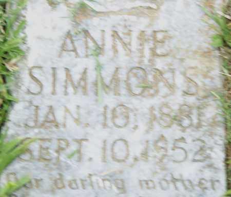 SIMMONS, ANNIE - Pulaski County, Arkansas | ANNIE SIMMONS - Arkansas Gravestone Photos