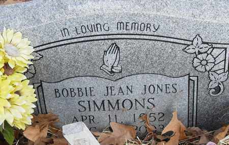 JONES SIMMONS, BOBBIE JEAN - Pulaski County, Arkansas | BOBBIE JEAN JONES SIMMONS - Arkansas Gravestone Photos