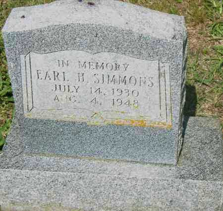 SIMMONS, EARL H - Pulaski County, Arkansas | EARL H SIMMONS - Arkansas Gravestone Photos