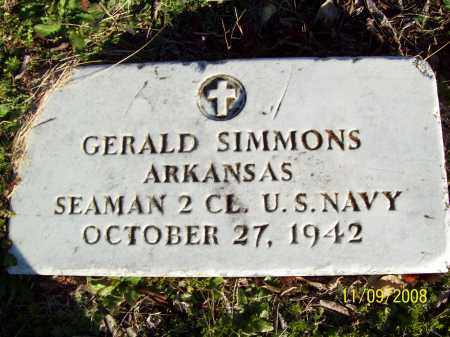 SIMMONS  (VETERAN), GERALD - Pulaski County, Arkansas | GERALD SIMMONS  (VETERAN) - Arkansas Gravestone Photos