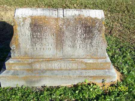 SIMMONS, MYRTLE - Pulaski County, Arkansas | MYRTLE SIMMONS - Arkansas Gravestone Photos
