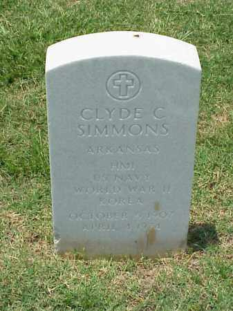 SIMMONS (VETERAN 2 WARS), CLYDE C - Pulaski County, Arkansas | CLYDE C SIMMONS (VETERAN 2 WARS) - Arkansas Gravestone Photos