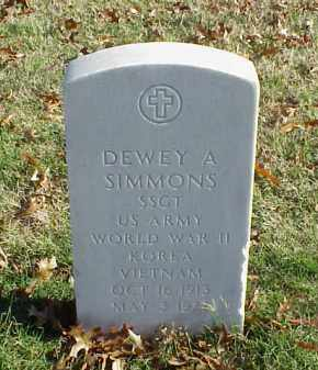 SIMMONS (VETERAN 3 WARS), DEWEY A - Pulaski County, Arkansas | DEWEY A SIMMONS (VETERAN 3 WARS) - Arkansas Gravestone Photos