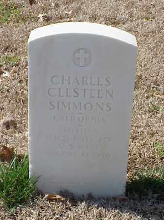 SIMMONS (VETERAN), CHARLES CLESTEEN - Pulaski County, Arkansas | CHARLES CLESTEEN SIMMONS (VETERAN) - Arkansas Gravestone Photos