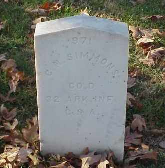 SIMMONS (VETERAN CSA), C N - Pulaski County, Arkansas | C N SIMMONS (VETERAN CSA) - Arkansas Gravestone Photos