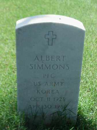 SIMMONS (VETERAN KOR), ALBERT - Pulaski County, Arkansas | ALBERT SIMMONS (VETERAN KOR) - Arkansas Gravestone Photos