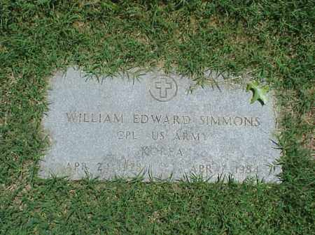 SIMMONS (VETERAN KOR), WILLIAM EDWARD - Pulaski County, Arkansas | WILLIAM EDWARD SIMMONS (VETERAN KOR) - Arkansas Gravestone Photos