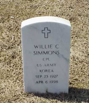 SIMMONS (VETERAN KOR), WILLIE C - Pulaski County, Arkansas | WILLIE C SIMMONS (VETERAN KOR) - Arkansas Gravestone Photos