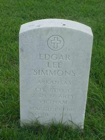 SIMMONS (VETERAN VIET), EDGAR LEE - Pulaski County, Arkansas | EDGAR LEE SIMMONS (VETERAN VIET) - Arkansas Gravestone Photos