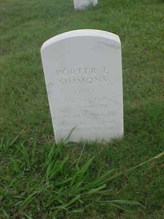 SIMMONS (VETERAN WWI), PORTER E - Pulaski County, Arkansas | PORTER E SIMMONS (VETERAN WWI) - Arkansas Gravestone Photos