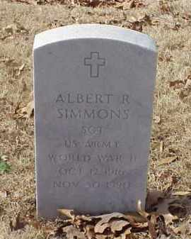 SIMMONS (VETERAN WWII), ALBERT R - Pulaski County, Arkansas | ALBERT R SIMMONS (VETERAN WWII) - Arkansas Gravestone Photos