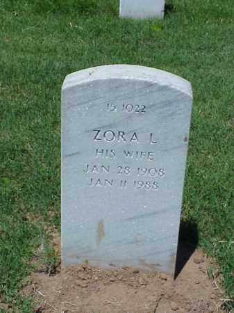 SIMMONS, ZORA L - Pulaski County, Arkansas | ZORA L SIMMONS - Arkansas Gravestone Photos