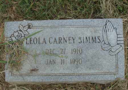 SIMMS, LEOLA - Pulaski County, Arkansas | LEOLA SIMMS - Arkansas Gravestone Photos