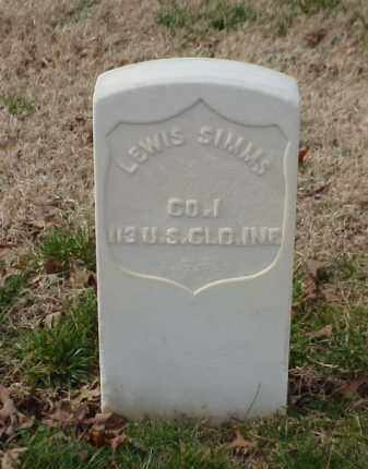 SIMMS (VETERAN UNION), LEWIS - Pulaski County, Arkansas | LEWIS SIMMS (VETERAN UNION) - Arkansas Gravestone Photos