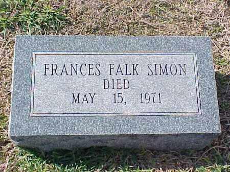 FALK SIMON, FRANCES - Pulaski County, Arkansas | FRANCES FALK SIMON - Arkansas Gravestone Photos