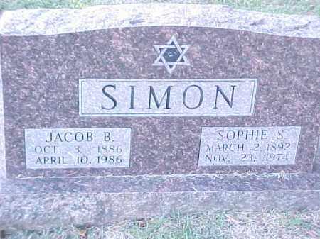 SIMON, SOPHIE S - Pulaski County, Arkansas | SOPHIE S SIMON - Arkansas Gravestone Photos