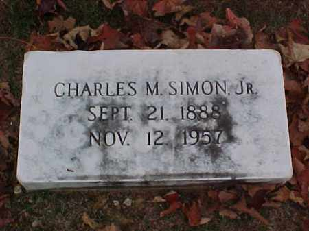SIMON, JR, CHARLES M - Pulaski County, Arkansas | CHARLES M SIMON, JR - Arkansas Gravestone Photos