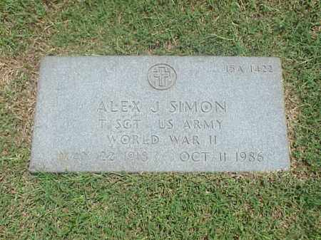 SIMON (VETERAN WWII), ALEX J - Pulaski County, Arkansas | ALEX J SIMON (VETERAN WWII) - Arkansas Gravestone Photos