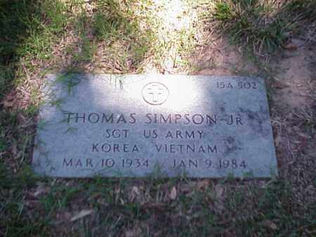 SIMPSON, JR (VETERAN 2 WARS), THOMAS - Pulaski County, Arkansas | THOMAS SIMPSON, JR (VETERAN 2 WARS) - Arkansas Gravestone Photos