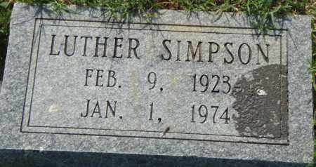 SIMPSON, LUTHER - Pulaski County, Arkansas | LUTHER SIMPSON - Arkansas Gravestone Photos