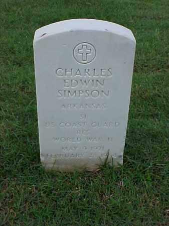 SIMPSON (VETERAN WWII), CHARLES EDWIN - Pulaski County, Arkansas | CHARLES EDWIN SIMPSON (VETERAN WWII) - Arkansas Gravestone Photos