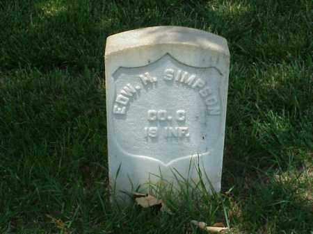 SIMPSON (VETERAN UNION), EDWARD H - Pulaski County, Arkansas | EDWARD H SIMPSON (VETERAN UNION) - Arkansas Gravestone Photos