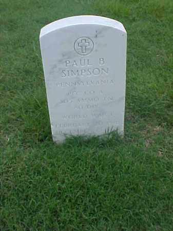 SIMPSON (VETERAN WWI), PAUL B - Pulaski County, Arkansas | PAUL B SIMPSON (VETERAN WWI) - Arkansas Gravestone Photos