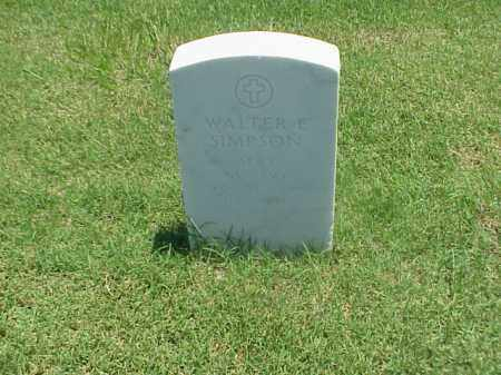 SIMPSON (VETERAN WWI), WALTER E - Pulaski County, Arkansas | WALTER E SIMPSON (VETERAN WWI) - Arkansas Gravestone Photos