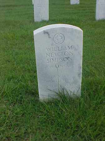 SIMPSON (VETERAN WWI), WILLIAM NEWTON - Pulaski County, Arkansas | WILLIAM NEWTON SIMPSON (VETERAN WWI) - Arkansas Gravestone Photos