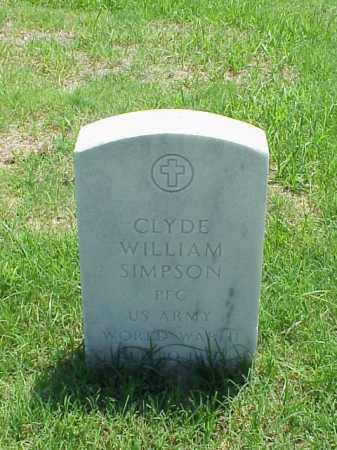 SIMPSON (VETERAN WWII), CLYDE WILLIAM - Pulaski County, Arkansas | CLYDE WILLIAM SIMPSON (VETERAN WWII) - Arkansas Gravestone Photos