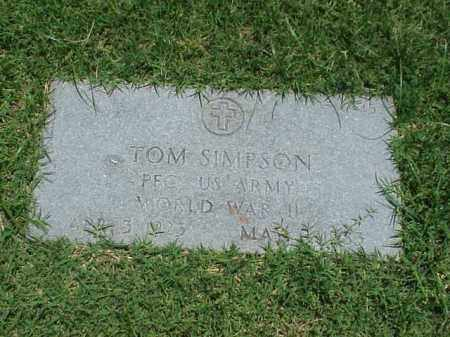 SIMPSON (VETERAN WWII), TOM - Pulaski County, Arkansas | TOM SIMPSON (VETERAN WWII) - Arkansas Gravestone Photos