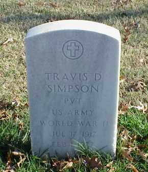 SIMPSON (VETERAN WWII), TRAVIS D - Pulaski County, Arkansas | TRAVIS D SIMPSON (VETERAN WWII) - Arkansas Gravestone Photos