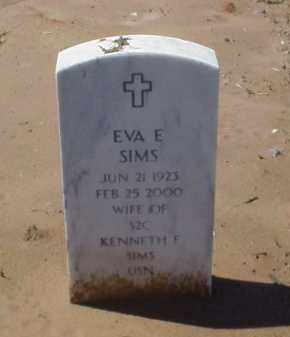 SIMS, EVA E - Pulaski County, Arkansas | EVA E SIMS - Arkansas Gravestone Photos